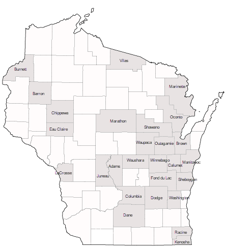 WI Counties service by Pfefferle